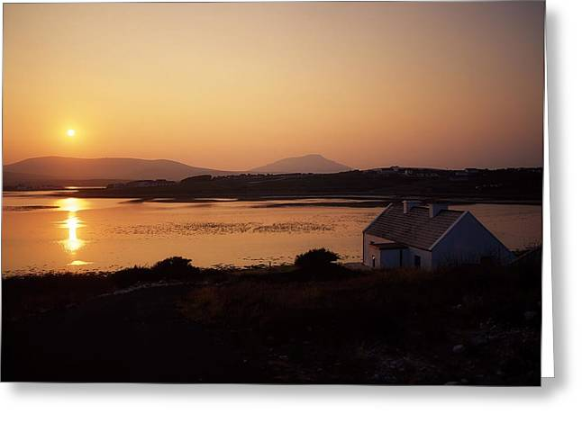 Residential Structure Greeting Cards - Achill Sound, Achill Island, Co Mayo Greeting Card by The Irish Image Collection