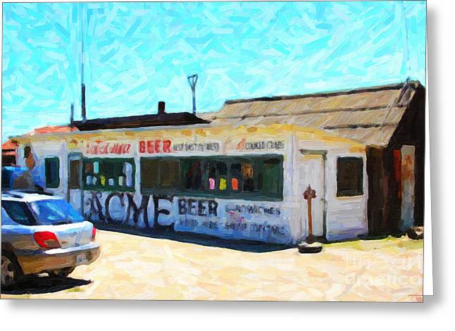China Beach Greeting Cards - Acme Beer At The Old Lunch Shack At China Camp Greeting Card by Wingsdomain Art and Photography