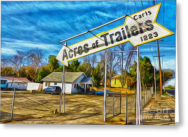 Gregory Dyer Greeting Cards - Acres of Trailers 1 Greeting Card by Gregory Dyer