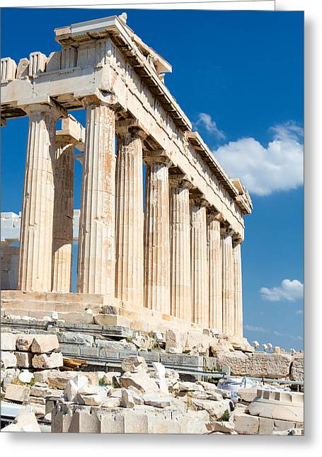 Mesta Greeting Cards - Acropolis Parthenon 3 Greeting Card by Emmanuel Panagiotakis