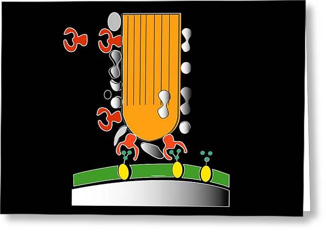 Acrosome Reaction, Artwork Greeting Card by Francis Leroy, Biocosmos