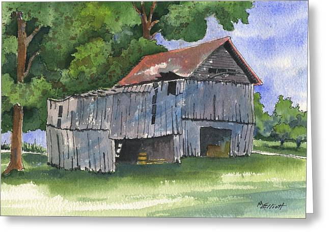 Across From Andies Greeting Card by Marsha Elliott