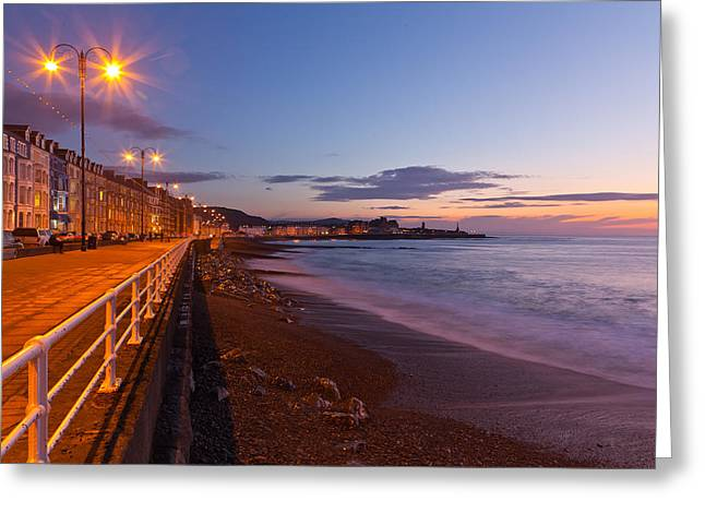 Recently Sold -  - Streetlight Greeting Cards - Across the bay Greeting Card by Gary Finnigan
