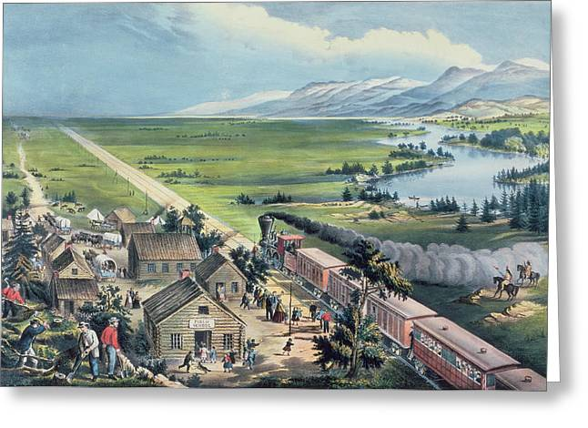 Across The Continent Greeting Card by Currier and Ives
