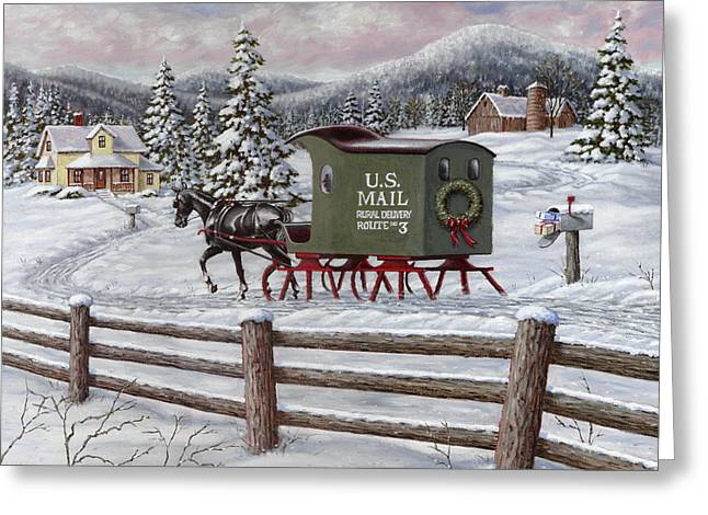 Holiday Greeting Cards - Across the Miles Greeting Card by Richard De Wolfe