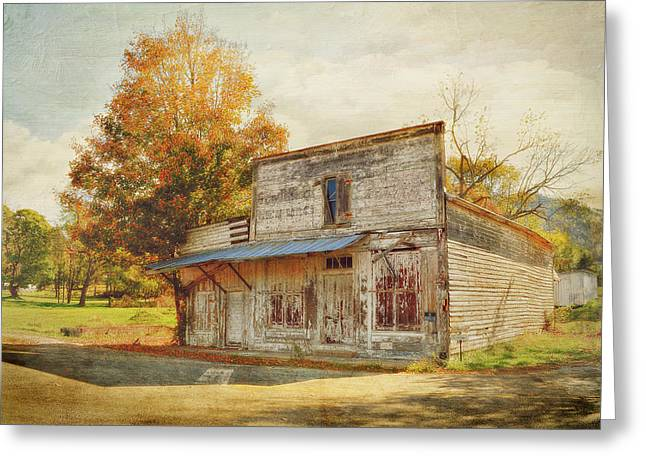 Rockbridge County Greeting Cards - Across The Tracks Greeting Card by Kathy Jennings