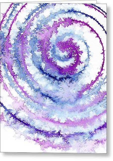Rotation Greeting Cards - Acrylic Fractals Greeting Card by Hakon Soreide