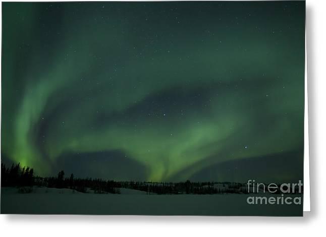 Active Aurora Over Vee Lake Greeting Card by Yuichi Takasaka