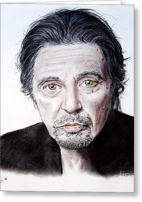 Afternoon Drawings Greeting Cards - Actor and Director Al Pacino  Greeting Card by Jim Fitzpatrick