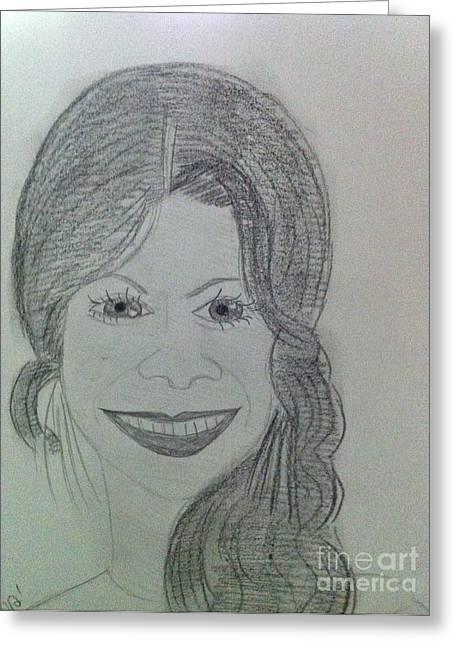 Actress Zoe S. Greeting Card by Charita Padilla