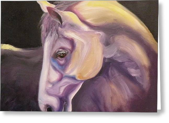 Art Horses Greeting Cards Greeting Cards - Adagio Greeting Card by Susan A Becker