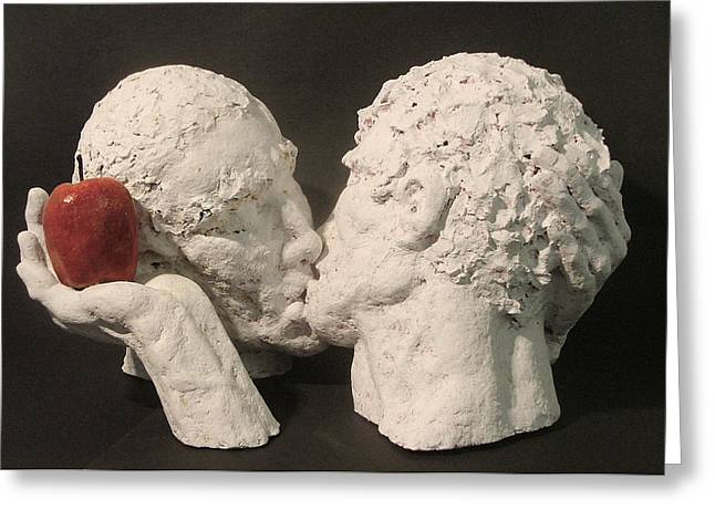 Papier Mache Greeting Cards - Adam and Adam Greeting Card by Gary Kaemmer