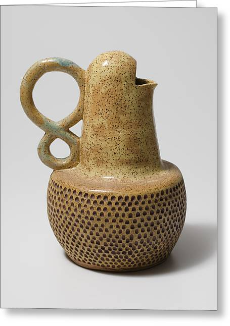 Pitcher Ceramics Greeting Cards - Adam Greeting Card by Jason Galles
