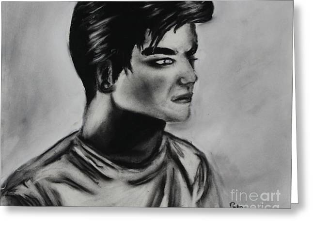 Adam Lambert Greeting Cards - Adam Lambert Look Greeting Card by Roger and Michele Hodgson