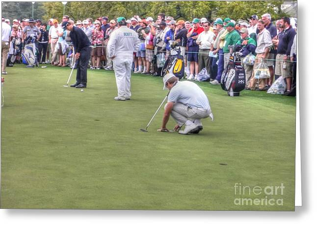 Adam Scott at the office Greeting Card by David Bearden