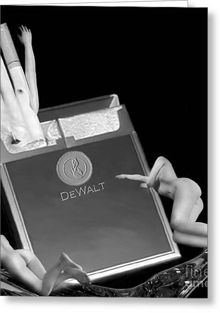 Self-portrait Photographs Greeting Cards - Addiction - Self Portrait Greeting Card by Jaeda DeWalt