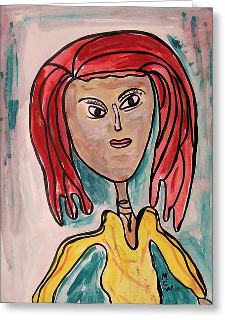 Inner Self Greeting Cards - Addie- Noble and Kind Greeting Card by Mary Carol Williams