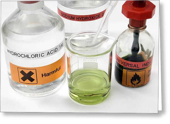 Neutral Colours Greeting Cards - Adding Acid To An Alkali Greeting Card by Trevor Clifford Photography