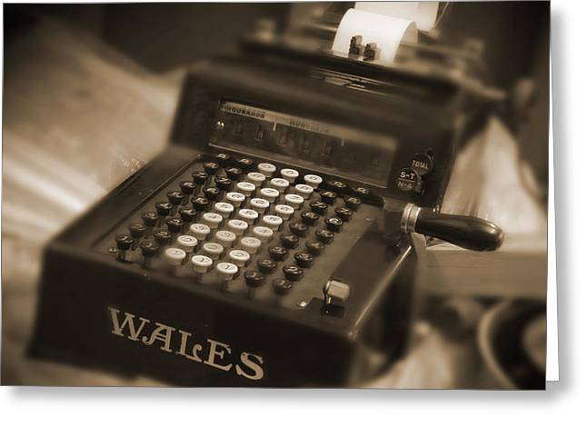 Wales Digital Greeting Cards - Adding Machine Greeting Card by Mike McGlothlen