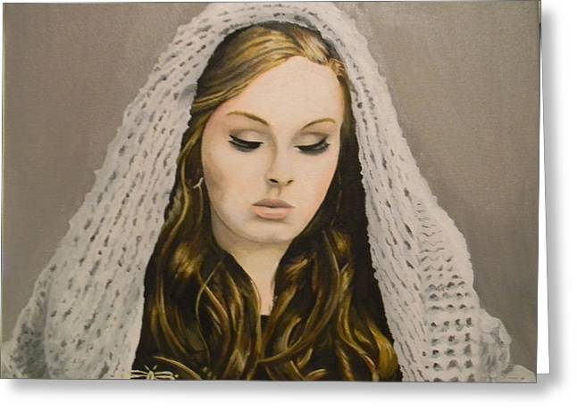 Adele Paintings Greeting Cards - Adele Greeting Card by Eric Barich