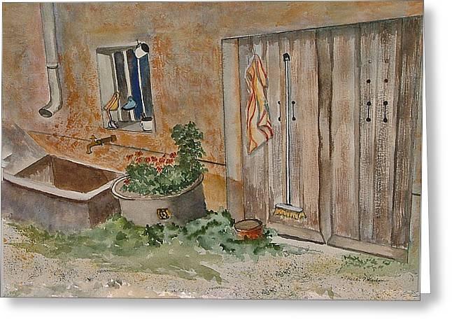 Adeline's Door Greeting Card by Heidi Patricio-Nadon