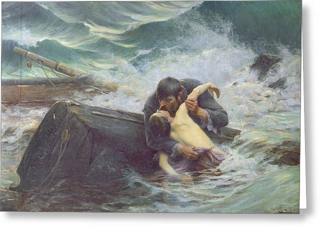 Drown Greeting Cards - Adieu Greeting Card by Alfred Guillou