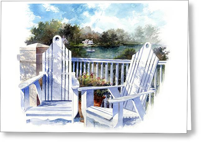Chairs Greeting Cards - Adirondack Chairs Too Greeting Card by Andrew King