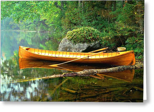 Adirondack Guideboat Greeting Card by Frank Houck