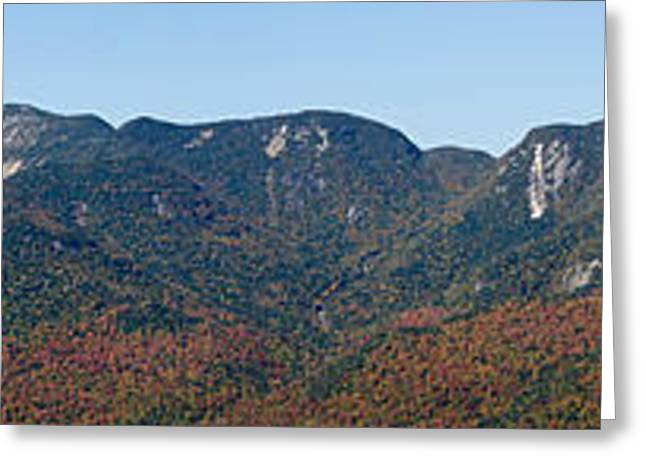 Adirondack Park Greeting Cards - Adirondack High Peaks - The Great Range - Panorama Greeting Card by Brendan Reals