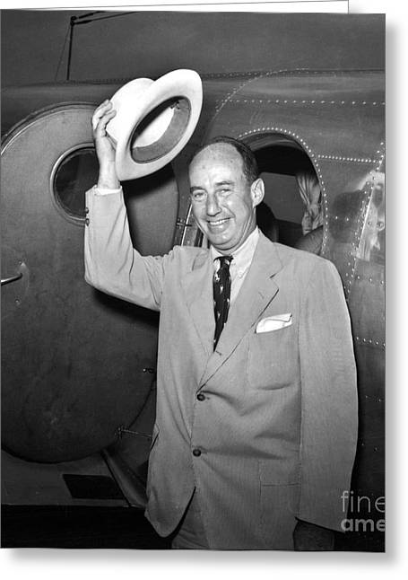 Recently Sold -  - Ewing Greeting Cards - Adlai Stevenson (1900-1965) Greeting Card by Granger