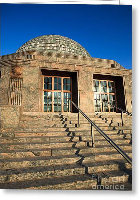 Planetarium Greeting Cards - Adler Planetarium and Astronomy Museum in Chicago Greeting Card by Paul Velgos