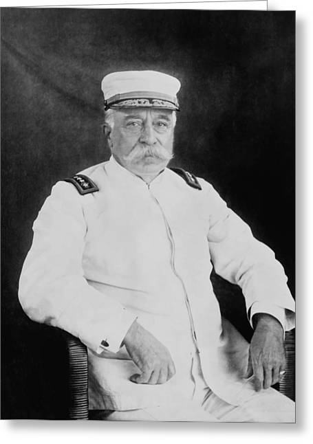 Naval History Greeting Cards - Admiral George Dewey Greeting Card by War Is Hell Store
