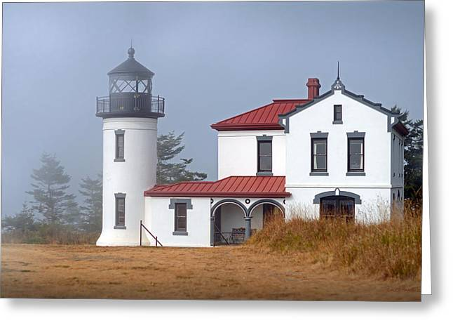 Fort Casey Greeting Cards - Admiralty Head Lighthouse Greeting Card by Alice Martin