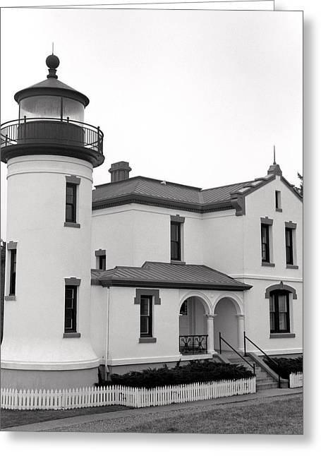 Fort Casey Greeting Cards - Admiralty Head Lighthouse Greeting Card by Harry Snowden