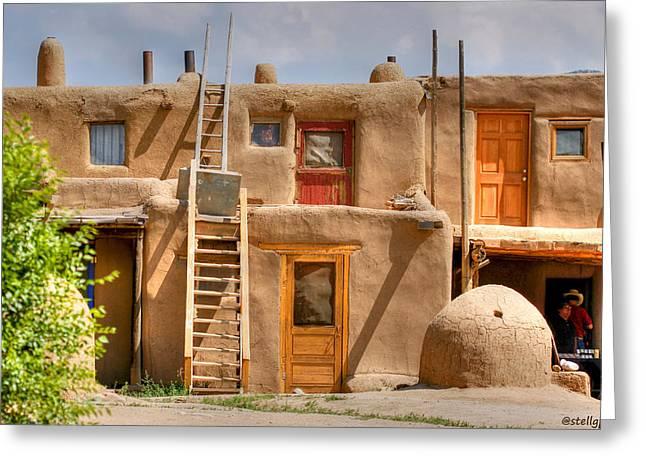 Adobe Homes Greeting Card by Stellina Giannitsi