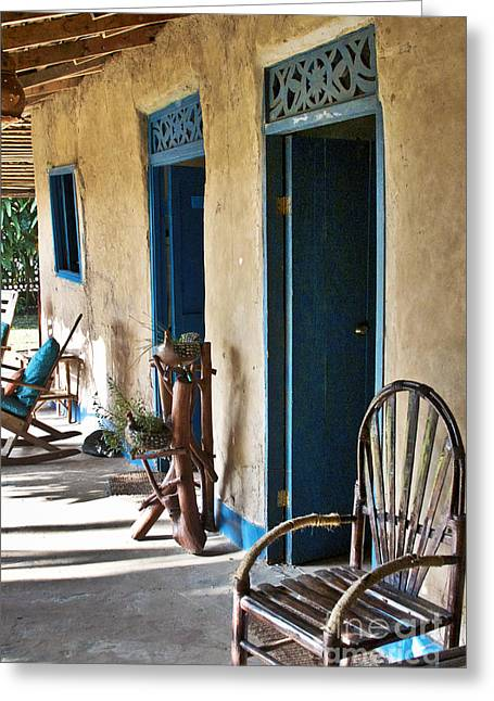 Rocking Chairs Greeting Cards - Adobe House in Panama Greeting Card by Heiko Koehrer-Wagner