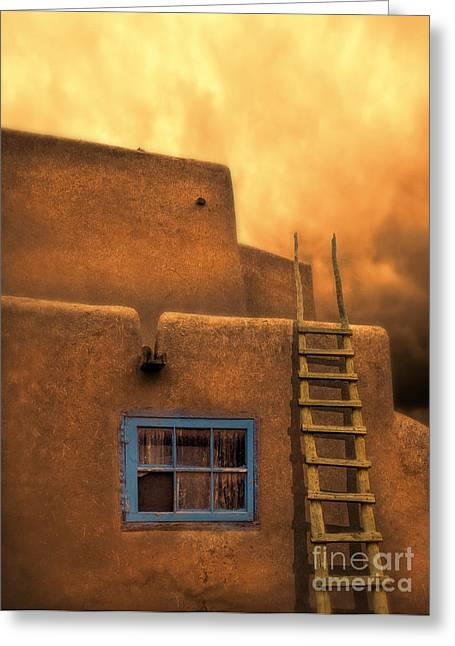 Adobe Greeting Cards - Adobe House  Greeting Card by Jill Battaglia