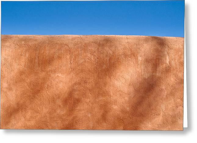 Textural Greeting Cards - Adobe Wall Santa Fe Greeting Card by Steve Gadomski