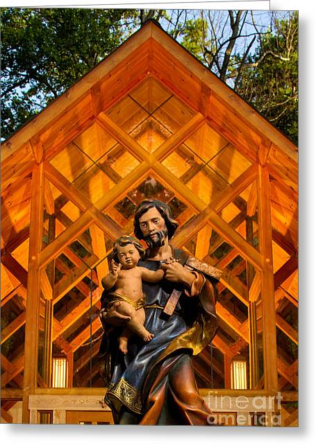Charlotte Nc Photography Greeting Cards - Adoration Chapel at Belmont Abbey College Greeting Card by Patrick Schneider