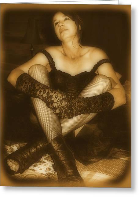 Cindy Nunn Greeting Cards - Adoration Greeting Card by Cindy Nunn