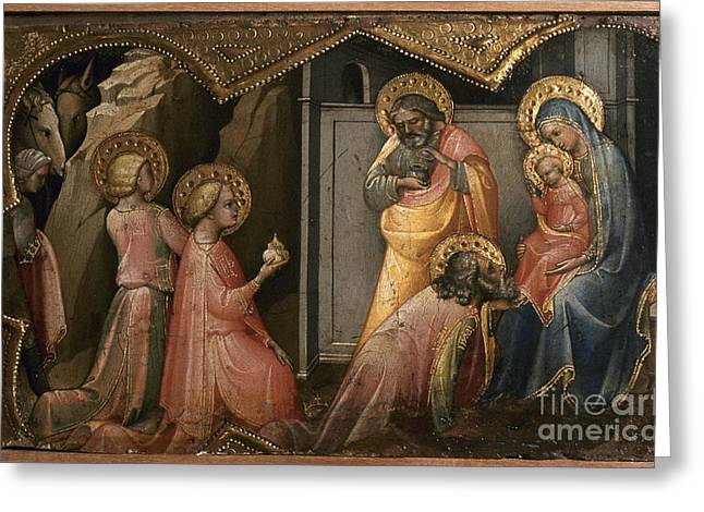 Royal Family Arts Greeting Cards - Adoration Of The Kings Greeting Card by Granger