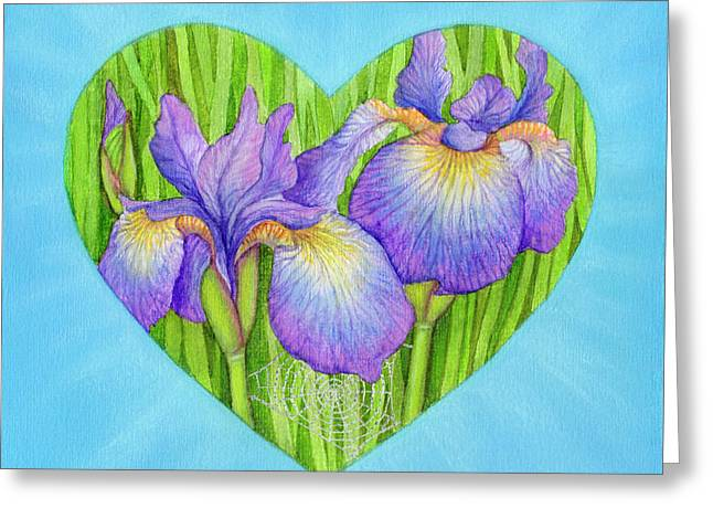Blue Flowers Pastels Greeting Cards - Adree Greeting Card by Lisa Kretchman