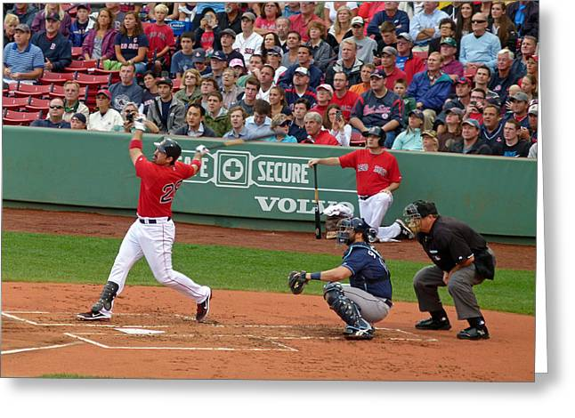 Red Sox Art Greeting Cards - Adrian Gonzalez Greeting Card by Juergen Roth