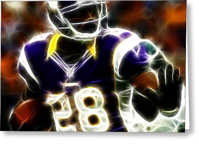 Peterson Greeting Cards - Adrian Peterson 02 - Football - fantasy Greeting Card by Paul Ward
