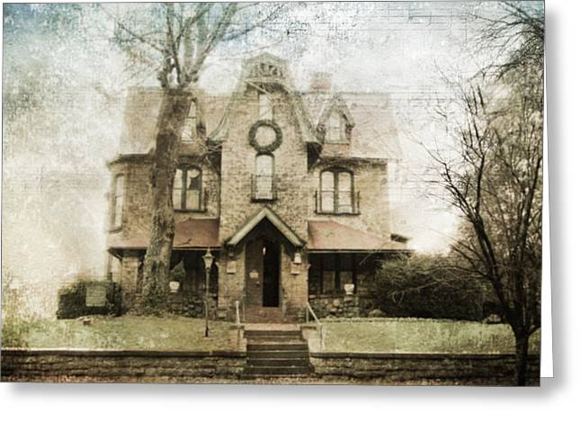 Houses Bed And Breakfast Greeting Cards - Adriennes Bed And Breakfast Greeting Card by Trish Tritz