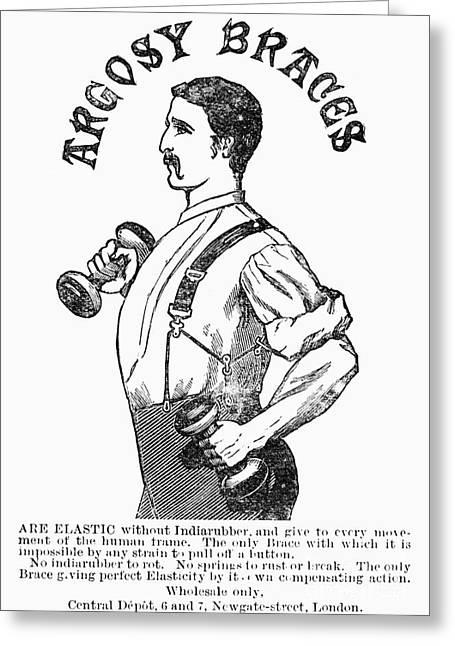 Suspenders Greeting Cards - Advertisement: Suspenders Greeting Card by Granger