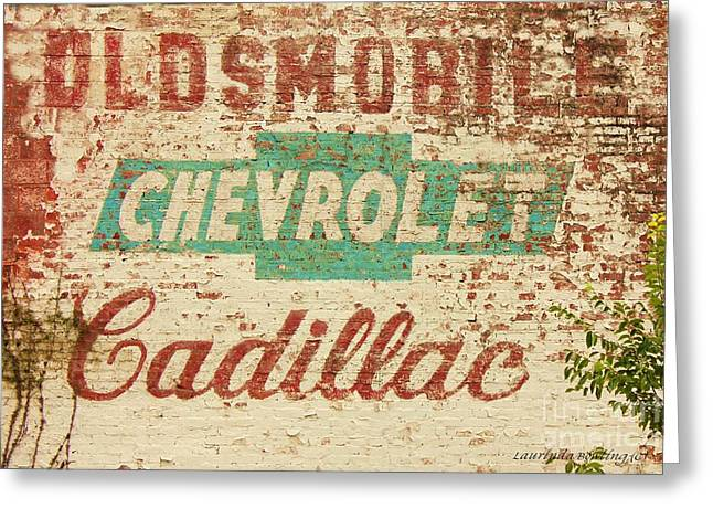 Advertising Old Style Greeting Card by Laurinda Bowling