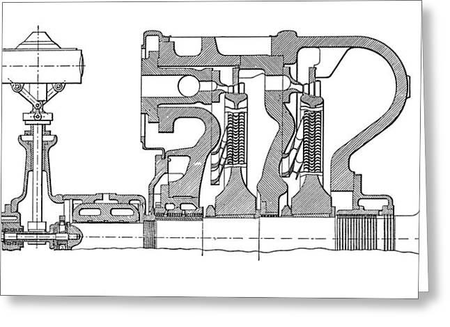 Aeg-curtis Steam Turbine Greeting Card by Mark Sykes