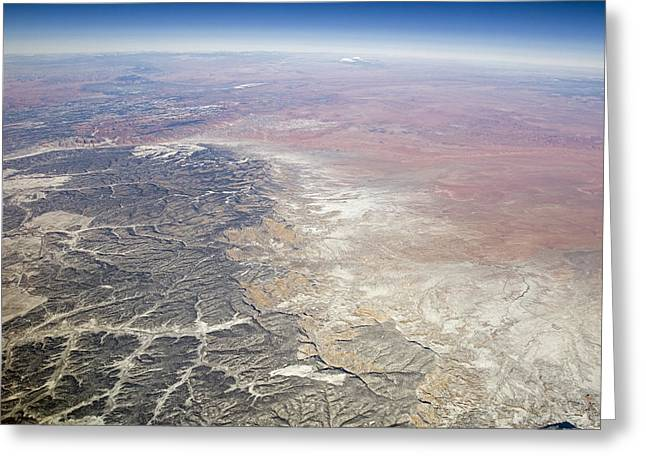 Black Mesa Greeting Cards - Aerial Of Black Mesa On The Navajo Greeting Card by Rich Reid