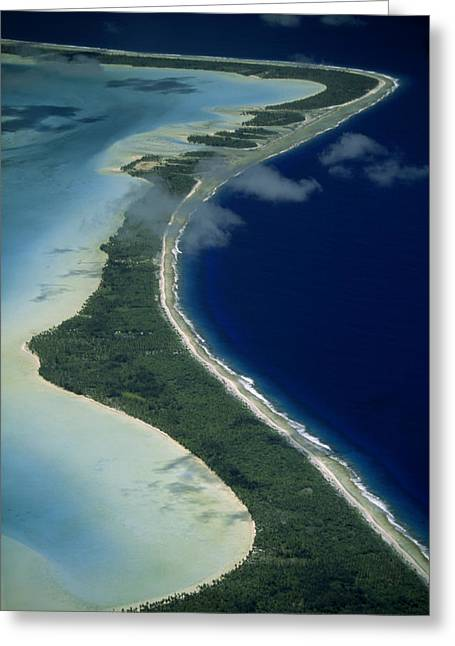 Boras Greeting Cards - Aerial Of The Outer Reef And Barrier Greeting Card by Paul Chesley